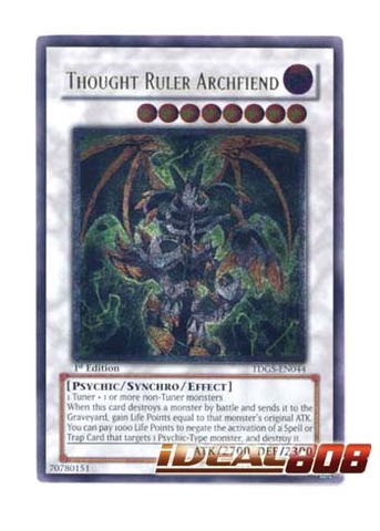 Thought Ruler Archfiend - TDGS-EN044 - Ultimate Rare - 1st Edition