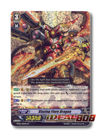 Blazing Flare Dragon - BT02/S05EN - SP (Special Parallel)