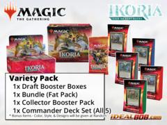 !MTGIkoria VARIETY PACK - Get x1 Ikoria: Lair of Behemoths Booster Box; x1 Bundle; & x1 Commander Deck, x1 Collector Pack