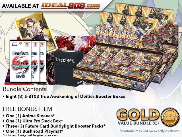 BFE-S-BT03  Bundle (C) Gold - Get x6 True Awakening of Deities Booster Box + FREE Bonus Items