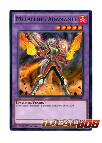 Metalfoes Adamante - TDIL-EN043 - Rare - 1st Edition