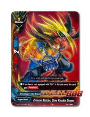 Crimson Battler, Guns Knuckle Dragon [H-BT01/0010EN RR] English Double Rare