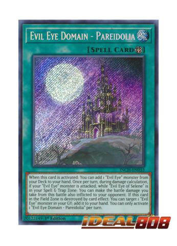 Evil Eye Domain - Pareidolia - INCH-EN033 - Secret Rare - 1st Edition