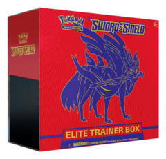 SS Sword & Shield - Base Set (SS01) Pokemon Elite Trainer Box - Zacian