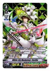 White Lily Musketeer, Cecilia - V-EB03/SV03EN - SVR (Gold Hot Stamp)