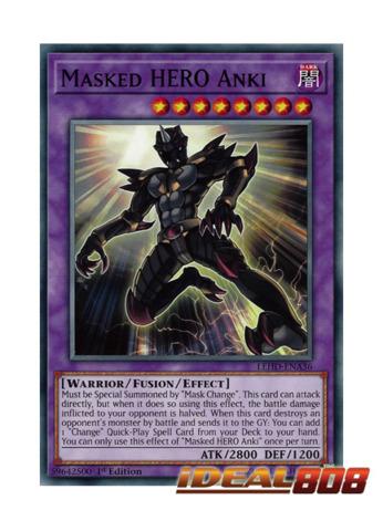 YuGiOh LEHD-ENA36 1st Ed Masked HERO Anki Common Card Legendary Hero Decks Single Card