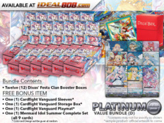 Cardfight Vanguard G-CB07 Bundle (D) Platinum - Get x12 Divas' Festa Booster Box + FREE Bonus Items * PRE-ORDER Ships Apr.27