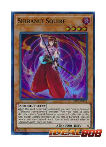 YUGIOH 3 X SHIRANUI SQUIRE SAST-EN019  1ST EDITION SUPER