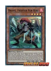 Bravo, Fighter Fur Hire - DASA-EN019 - Super Rare - 1st Edition
