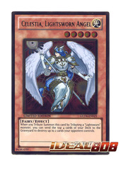 Celestia, Lightsworn Angel - GLD4-EN025 - Gold Rare - Limited Edition