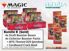 !MTGIkoria BUNDLE (B) Gold - Get x4 Ikoria: Lair of Behemoths Booster Box + x4 Collector Packs