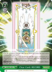Clear Card: RECORD  [CCS/WX01-053 U (Regular)] English