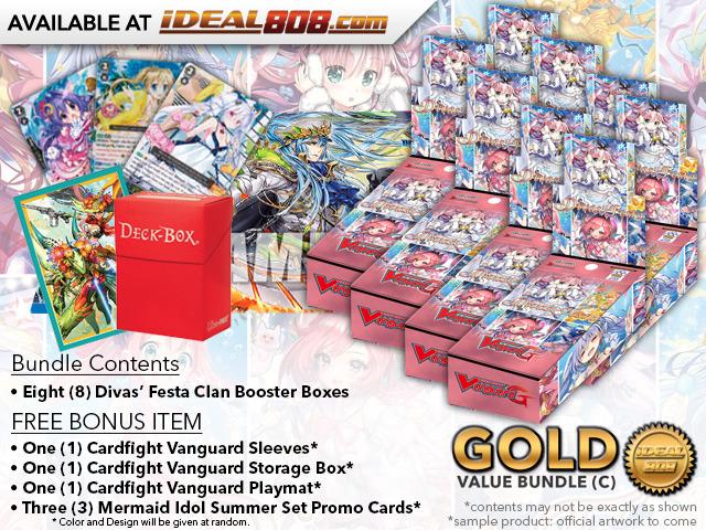 Cardfight Vanguard G-CB07 Bundle (C) Gold - Get x8 Divas' Festa Booster Box + FREE Bonus Items * PRE-ORDER Ships Apr.27