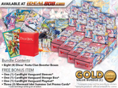 Cardfight Vanguard G-CB07 Bundle (C) Gold - Get x8 Divas' Festa Booster Box + FREE Bonus Items * PRE-ORDER Ships Apr.27