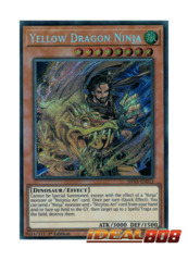 Yellow Dragon Ninja - SHVA-EN013 - Secret Rare - 1st Edition