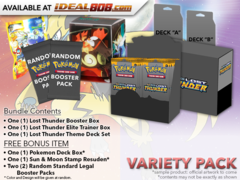 Pokemon SM08 Variety Pack - Get x1 Lost Thunder Booster Box; x1 Theme Deck Set; x1 Elite Trainer Box + Bonus * Ships Oct.29