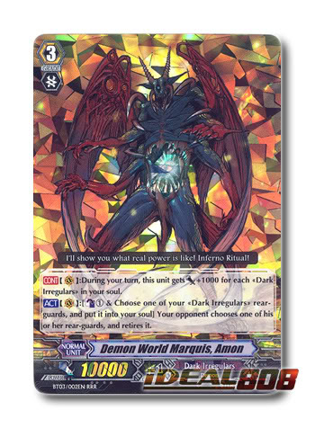 Demon World Marquis, Amon  - BT03/002EN - RRR
