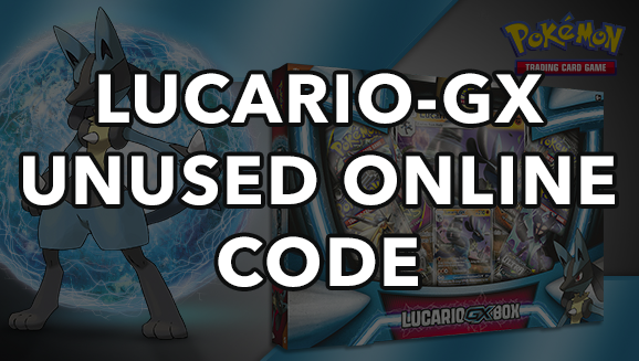 Pokemon Lucario-GX SM100 TCGO Unused Promo Code