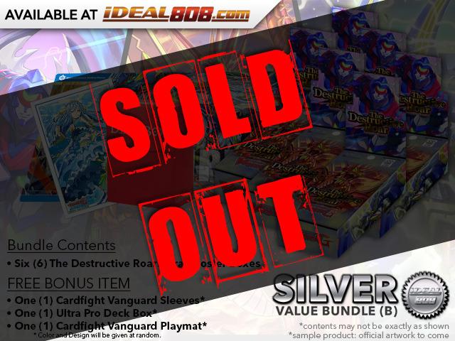 CFV-V-EB01  Bundle (B) Silver - Get x6 The Destructive Roar Cardfight Vanguard Booster Box + FREE Bonus Items
