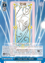 Clear Card: SIEGE  [CCS/WX01-096 U (Regular)] English
