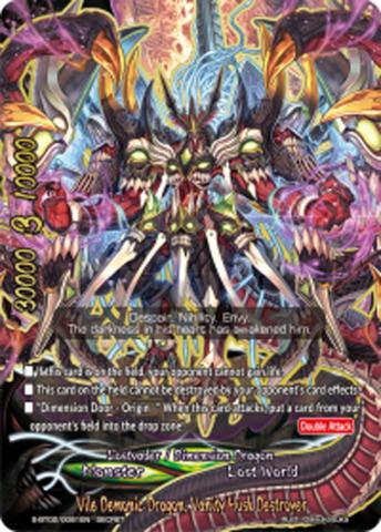 Vile Demonic Dragon, Vanity Husk Destroyer [S-BT02/0081EN Secret (FOIL)] English