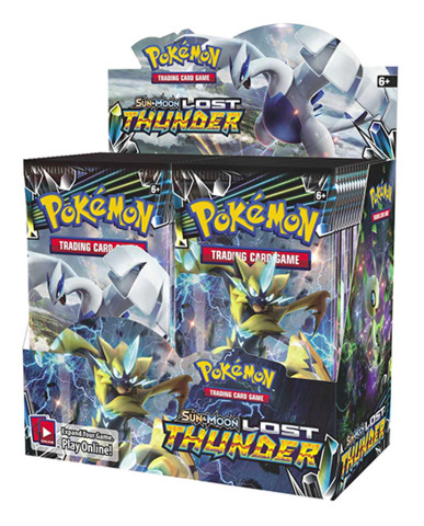 SM Sun & Moon - Lost Thunder (SM08) Pokemon Booster Box [36 Packs]
