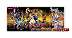 Gold Series 4 Playmat - Yugi with Dark Magician & Dark Magician Girl - SPECIAL Sale Price!