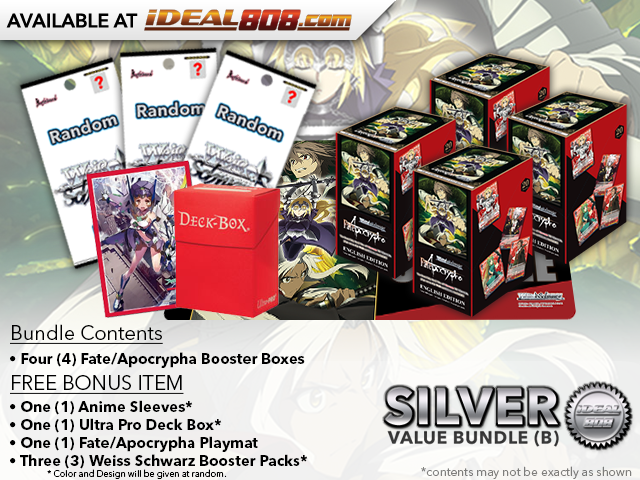 Weiss Schwarz APO Bundle (B) Silver - Get x4 Fate/Apocrypha Booster Boxes + FREE Bonus Items