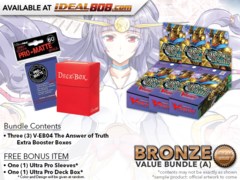 CFV-V-EB04  Bundle (A) Bronze - Get x3 The Answer of Truth Cardfight Vanguard Booster Box + FREE Bonus Items