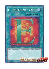 E - Emergency Call - RYMP-EN024 - Secret Rare - 1st Edition
