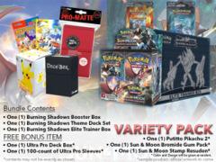Pokemon SM03 Variety Pack - Get x1 Burning Shadows Booster Box; x1 Theme Deck Set; x1 Elite Trainer Set + FREE Bonus