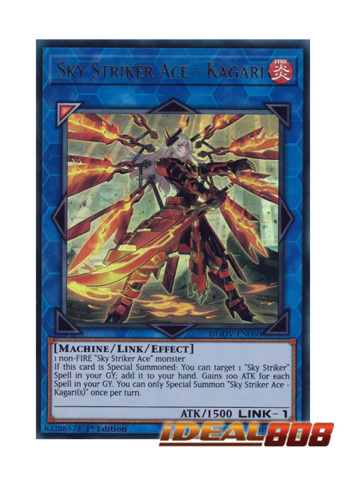 Sky Striker Ace Kagari Alternate Art Duov En060 Ultra Rare 1st Edition Yugioh Singles Ygo Duel Overload Ideal808 Com