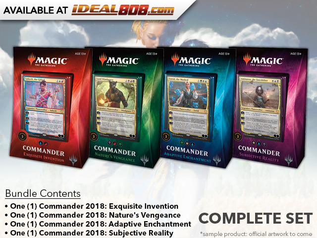 Commander 2018 (C18) Decks - Complete Set of 4