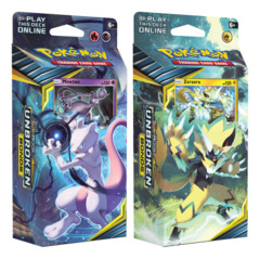 SM Sun & Moon - Unbroken Bonds (SM10) Pokemon Theme Deck  Set - Mewtwo & Zeraora