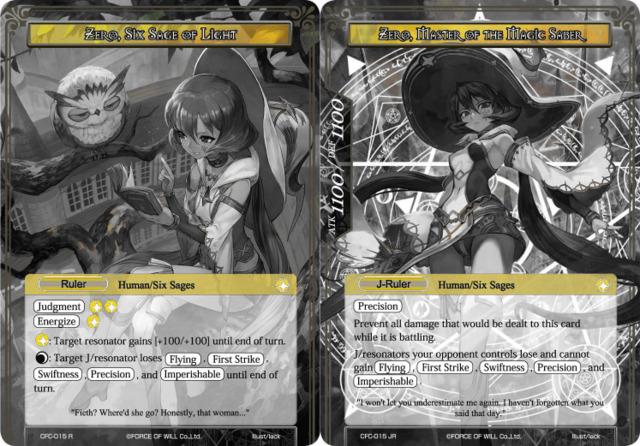 Zero, Six Sage of Light // Zero, Master of the Magic Saber [CFC-015 UR (Uber Rare Ruler)] English