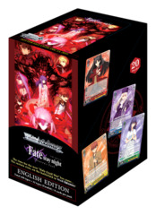Fate/stay night [Heaven's Feel] (English) Weiss Schwarz Booster  Case [16 Boxes] * PRE-ORDER Ships Dec.13
