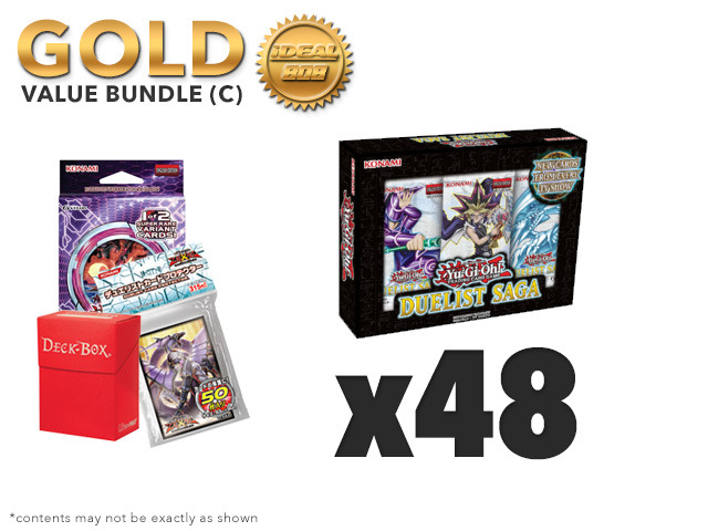 Yugioh Duelist Saga Bundle (C) Gold - Get x6 Display Boxes plus Free Gifts