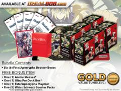 Weiss Schwarz APO Bundle (C) Gold - Get x6 Fate/Apocrypha Booster Boxes + FREE Bonus Items * PRE-ORDER Ships Oct.12