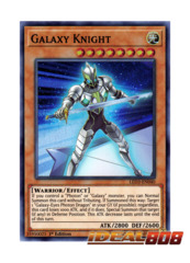 Galaxy Knight - LED3-EN040 - Super Rare - 1st Edition
