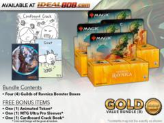 MTGGRN Bundle (B) Gold - Get x4 Guilds of Ravnica Booster Box + FREE Bonus Items * PRE-ORDER Ships Oct.05
