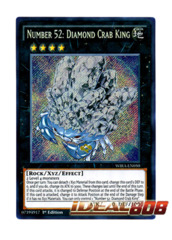 Number 52: Diamond Crab King - WIRA-EN050 - Secret Rare - 1st Edition