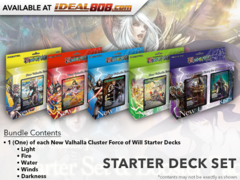 NV01  New Valhalla Cluster (English) Force of Will Starter Deck Set [All 5 Decks]
