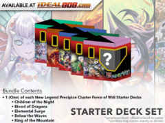 NLP  New Legend Precipice Cluster (English) Force of Will Starter Deck Set [All 5 Decks]