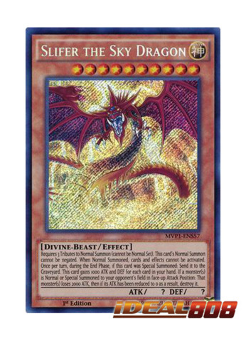 Yugioh Slifer The Sky Dragon MVP1-ENS57 Secret Rare Mint Condition