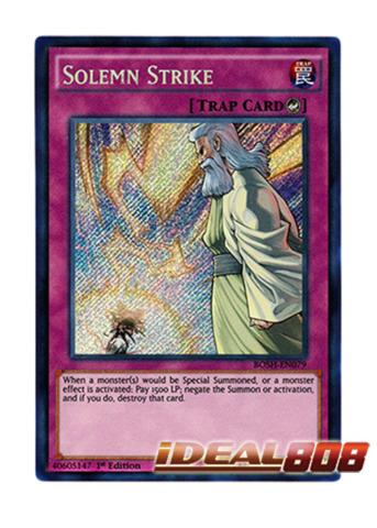 Solemn Strike - BOSH-EN079 - Secret Rare - 1st Edition