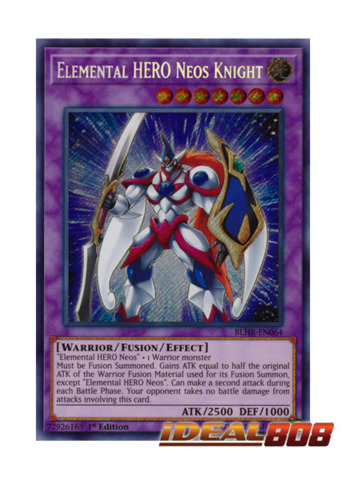 Elemental HERO Neos Knight - BLHR-EN064 - Secret Rare - 1st Edition