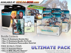 MTGDOM Ultimate Pack - Get x3 Dominaria Booster Box; x1 Bundle; & 1 Planeswalker Deck Set + FREE Bonus Items * Ships Apr.27