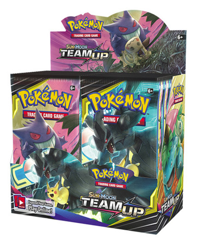 SM Sun & Moon - Team Up (SM09) Pokemon Booster Box (36 Packs) * PRE-ORDER Ships Jan.28
