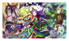Force of Will TCG Winds of the Ominous Moon Promo Playmat (Mikage, Kaguya, Fiethsing)