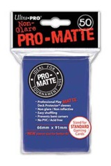 Ultra Pro Matte Non-Glare Large Sleeves 50ct. - Blue (#82653)